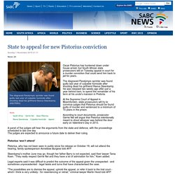 State to appeal for new Pistorius conviction:Sunday 1 November 2015