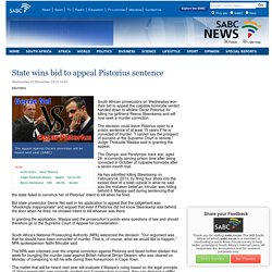 State wins bid to appeal Pistorius sentence:Wednesday 10 December 2014