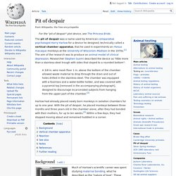 Pit of despair - Wikipedia