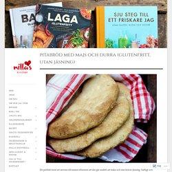 Pitabröd med majs och durra (glutenfritt, utan jäsning)