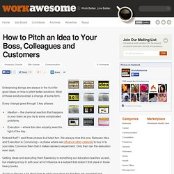 How to Pitch an Idea to Your Boss, Colleagues and Customers