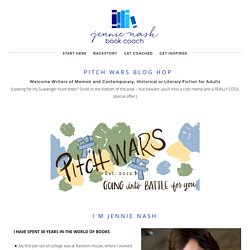 Pitch Wars Blog Hop — JENNIE NASH BOOK COACH
