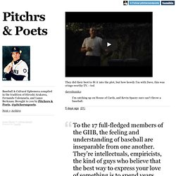 Pitchrs & Poets.