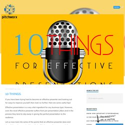 PitchWorx - 10 Things