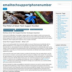 The Pitfall of Gmail Tech Support Number