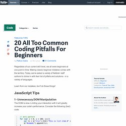 20 All Too Common Coding Pitfalls For Beginners