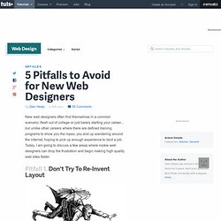 5 Pitfalls to Avoid for New Web Designers