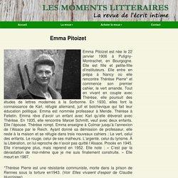 Emma Pitoizet - Les Moments Littéraires