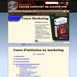 Cours d'initiation au marketing
