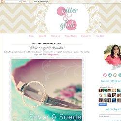 Silver & Suede Bracelet}
