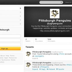 Pittsburgh Penguins (pghpenguins) on Twitter - Firefox