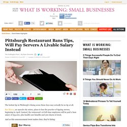 Pittsburgh Restaurant Bans Tips, Will Pay Servers A Livable Salary Instead