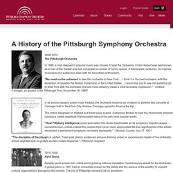 History of the Pittsburgh Symphony Orchestra