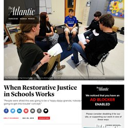 How Pittsfield, New Hampshire's Schools Are Practicing Restorative Justice
