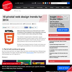 18 pivotal web design trends for 2014