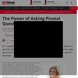 The Power of Asking Pivotal Questions