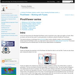 PivotViewer – Working with Facets