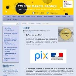 □□ PIX - Collège Marcel Pagnol