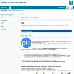 PIX - PIX - Jean Rostand de Balma