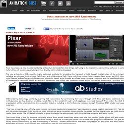 Pixar announces new RIS Renderman