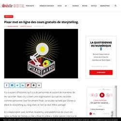 Pixar met en ligne des cours gratuits de storytelling.