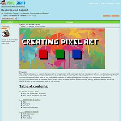 Pixel Joint Forum: The Pixel Art Tutorial