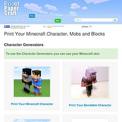 Minecraft Papercraft Print Your Character