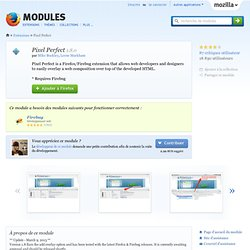 Pixel Perfect :: Modules pour Firefox
