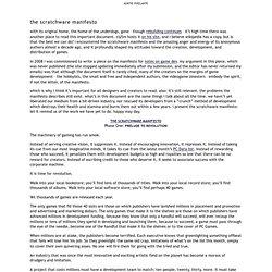 auntie pixelante › the scratchware manifesto