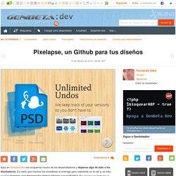 Pixelapse, un Github para tus diseños