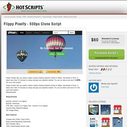 Flippy Pixelfy - 500px Clone Script