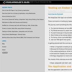 Testing an Ember Application: Integration and Unit tests - pixelhandler...