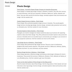 Brochure Design Brisbane - Pixelo Design