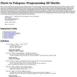 Pixels to Polygons: Programming 3d Worlds