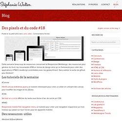 Des pixels et du code #18 - Stéphanie Walter : Webdesign - intégration web