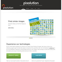 pixolution - find what you imagine