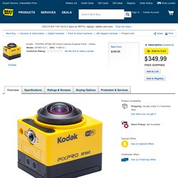 Kodak PIXPRO SP360 HD Action Camera Explorer Pack Yellow SP360-YL3