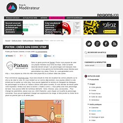 Pixton : créer son comic strip