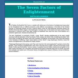 Piyadassi Thera - THE SEVEN FACTORS OF ENLIGHTENMENT
