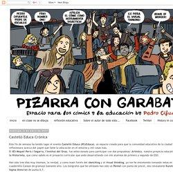 Pizarra con garabatos: Castelló Educa Crónica
