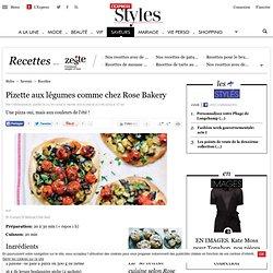 Recette Pizette aux légumes comme chez Rose Bakery