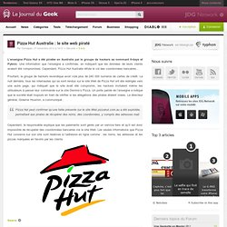 Pizza Hut Australie : le site web piraté