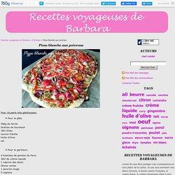 Pizza blanche aux poivrons