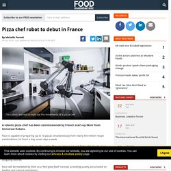 Pizza chef robot to debut in France