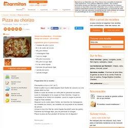 Pizza au chorizo : Recette de Pizza au chorizo