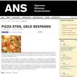 Pizza eten, geld besparen