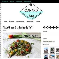 Pizza Green à la farine de Teff