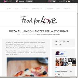 Pizza au Jambon, Mozzarella et Origan