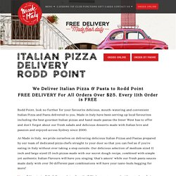 Classics To the Oh So Creative pizza in Rodd Point - Made In Italy Five Dock