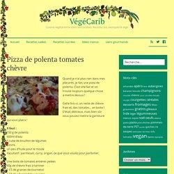 Pizza de polenta tomates chèvre